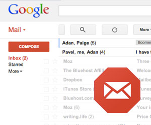 Stop email in gmail